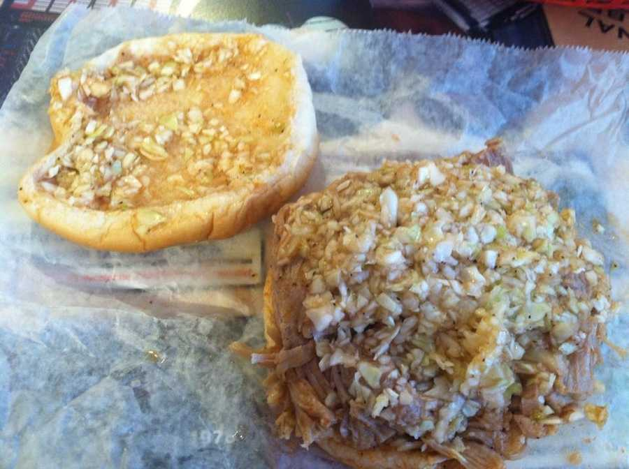 """Let's wrap up with a quick look at the """"barbecue war"""" of North Carolina. Western style BBQ features a tomato-based sauce, with only part of the hog cooked."""