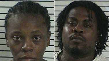 Sherrie Clay, left, and Shakee Robinson, right