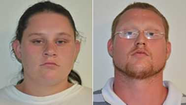 Jessica Cullbreth, left, and James Pulley, right