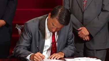 Gov. Pat McCrory signs 2014 budget