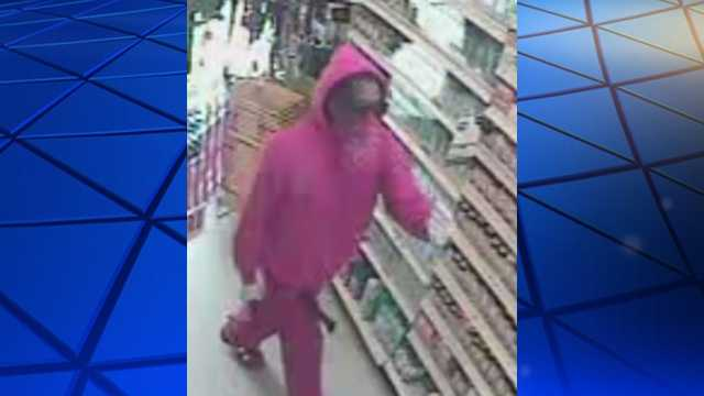 Surveillance image of Dollar General armed robbery suspect
