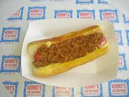 This is what Kermit's is famous for...their chili and cheese dog. I get one every time I go to see them.