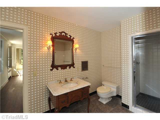 One of seven bathrooms