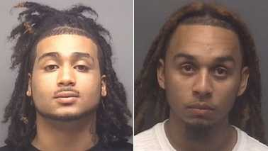 Curtis Benton, left, and Shamell Tate, right