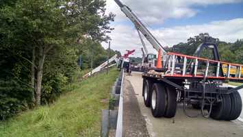 NCDOT officials said the lanes may not reopen until 6:30 p.m.
