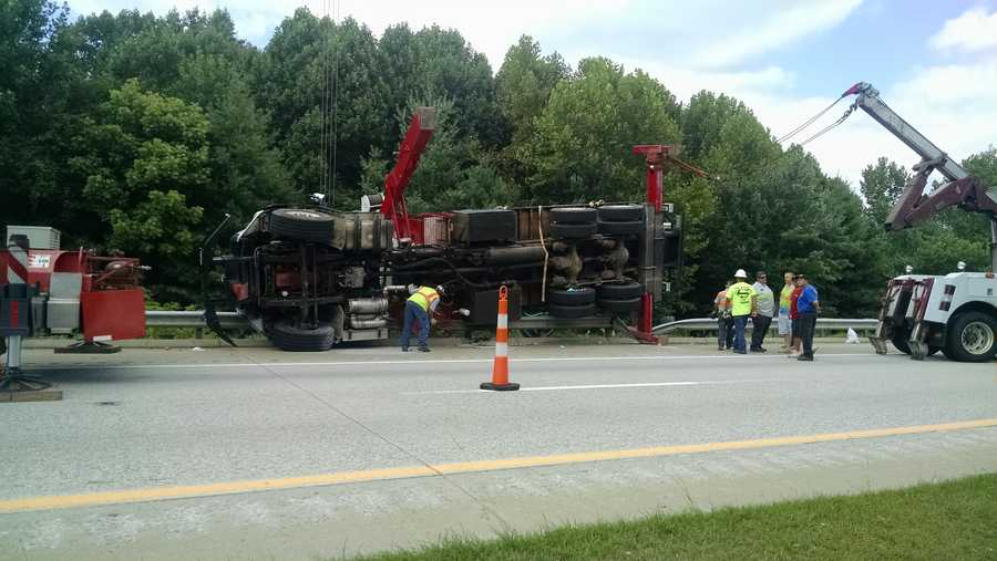 A crane was brought in to upright the vehicle. Stay with WXII 12 News, WXII12.com and the WXII mobile app as details develop.