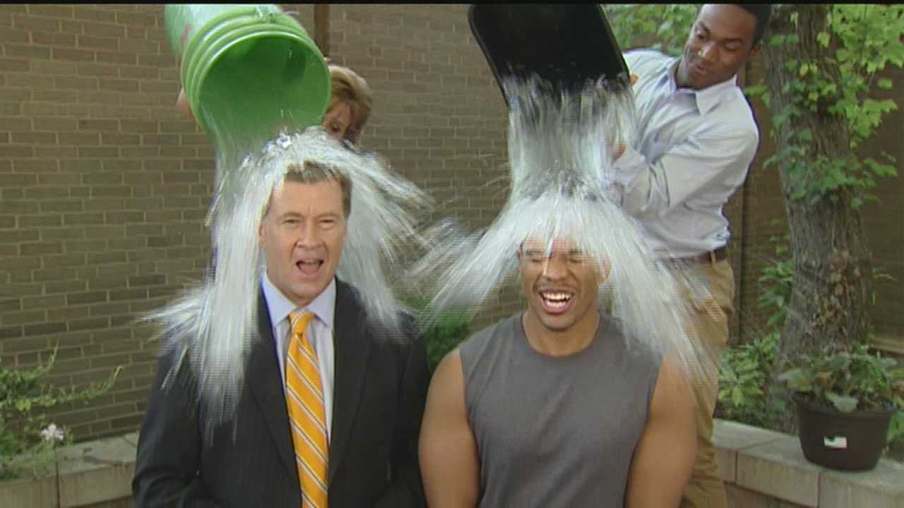 WXII 12's Cameron Kent and Chris Lea take the plunge in the Ice Bucket Challenge. The challenge involves daring a person to dump a bucket of ice water over their head within the next 24 hours, or donating money toward fighting ALS.
