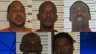 L-R: Edward Bushnell, Anthony Farrish, Keith Anthony Hughes, Keith Arnold Hughes and Kyle Poteat