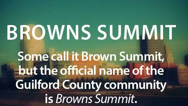 We end with Browns Summit. Hope you enjoyed!