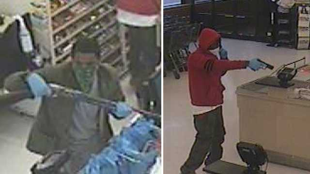 Surveillance image of Food Lion robbery suspects