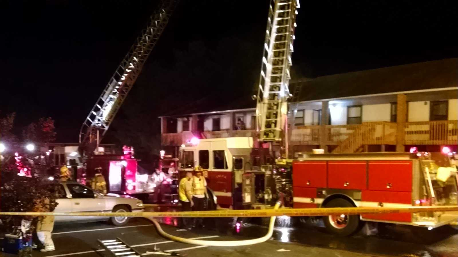 Eight people were displaced after an apartment fire in Winston-Salem on Friday morning.