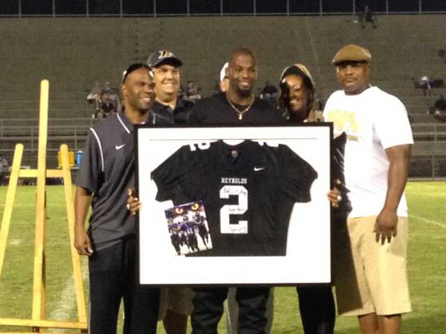Current Baltimore Ravens player Anthony Levine has his RJ Reynolds Jersey Retired.
