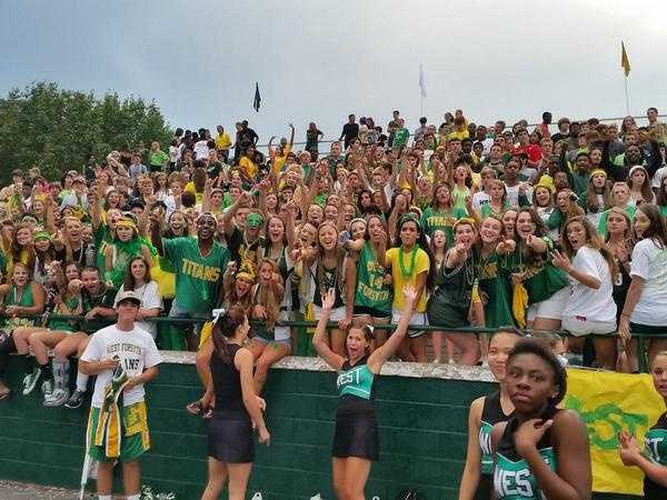 West Forsyth Titans student section
