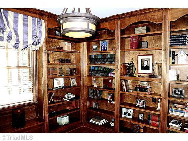 This home provides office and library space