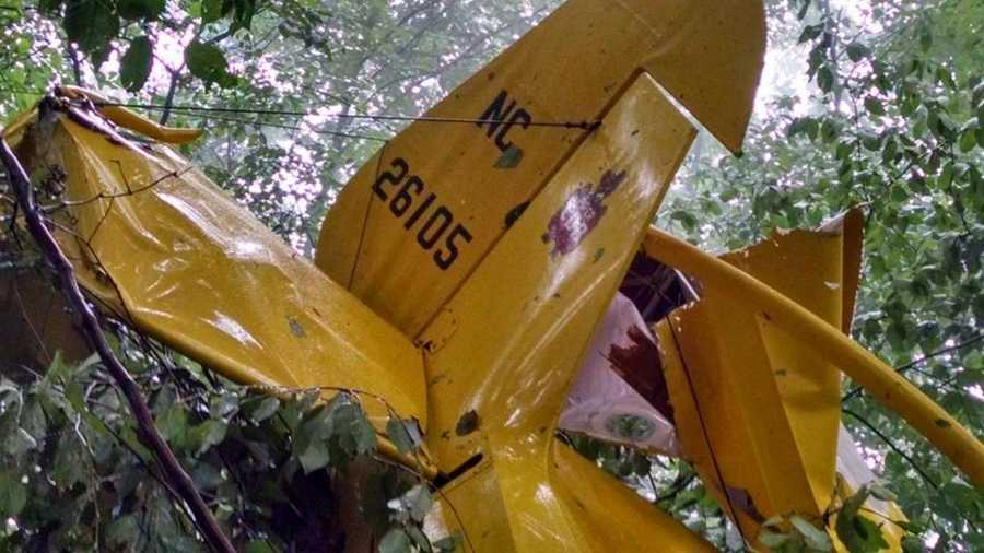 The 1939 Piper J-3 Cub was being flown from Ohio to Johnston County, N.C. It hit a fog bank before clipping trees and crashing in a hilly, wooden median.