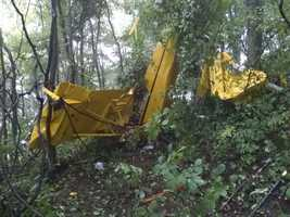 A small plane crashed in the median of Interstate 77 in Carroll County Tuesday.