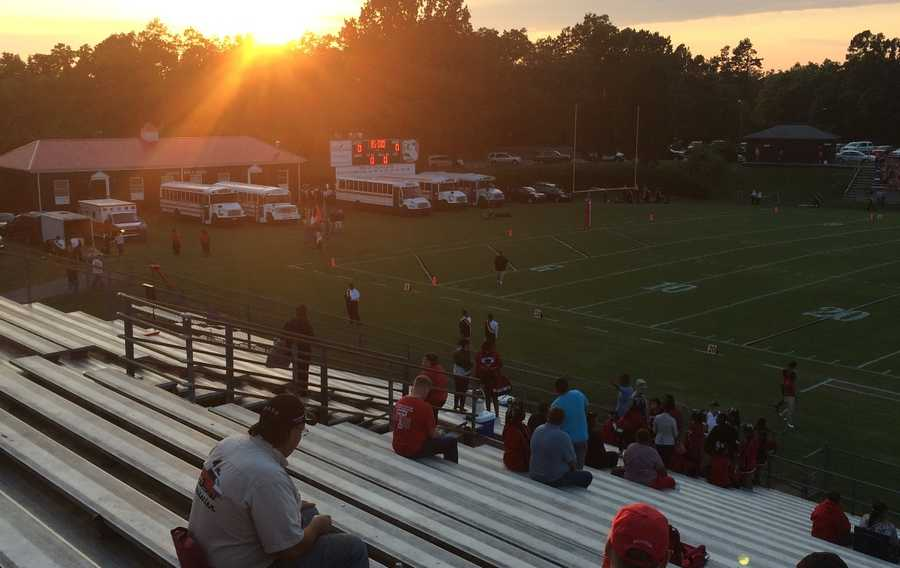 Before game time at Thomasville