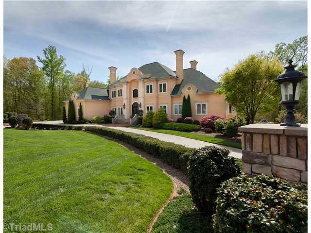 This five bedroom Kernersville estate has over 11,000 square feet and is priced at $1,990,000.