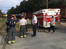 Crews remained at the scene Wednesday morning investigating. No chemical spill occurred because of the derailment.