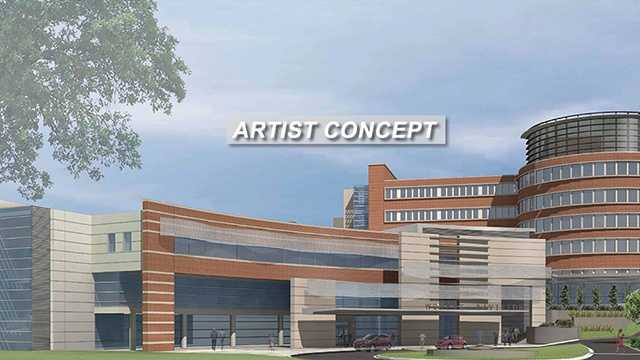 Artist rendering of proposed new Women's Hospital at Moses Cone