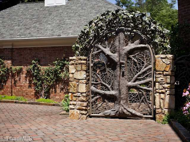 One of a kind Gate was designed by sculptor Jim Gallucci