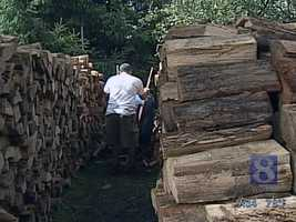 9. Firewood. The popping of a real wood burning fireplace is actually little explosions of trapped pitch, sap or water.