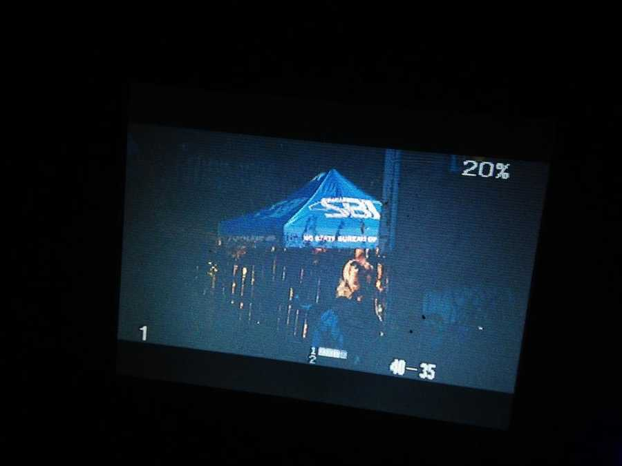 Deputies were assisted by agents from the State Bureau of Investigation, who set up tents outside the home.