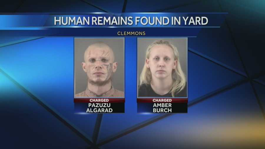 Pazuzu Illah Algarad, 35, and Amber Nicole Burch, 24, of Clemmons were charged with one count each of murder and accessory after the fact to murder. They were placed in Forsyth County Detention Center without bond.