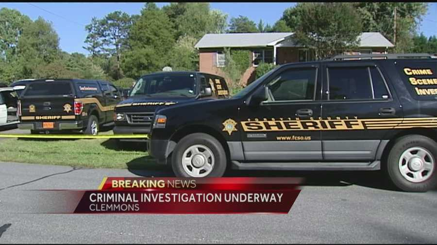 "Forsyth County Sheriff's deputies responded Sunday morning, Oct. 5, to Knob Hill Drive in Clemmons as part of what it called a ""criminal investigation."""