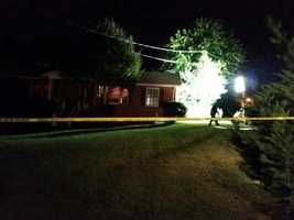 Authorities remained at the scene Tuesday morning, Oct. 7 -- marking almost 48 hours at the home.
