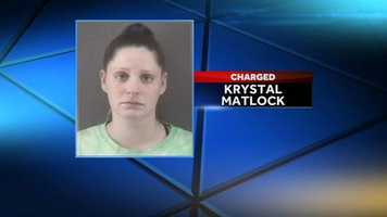 Krystal Nicole Matlock, 28, made her first court appearance Wednesday. She is charged with accessory after the fact to first degree murder. She is held under $250,000 bond and could face 275 months in prison. Her next court date is Oct. 23.