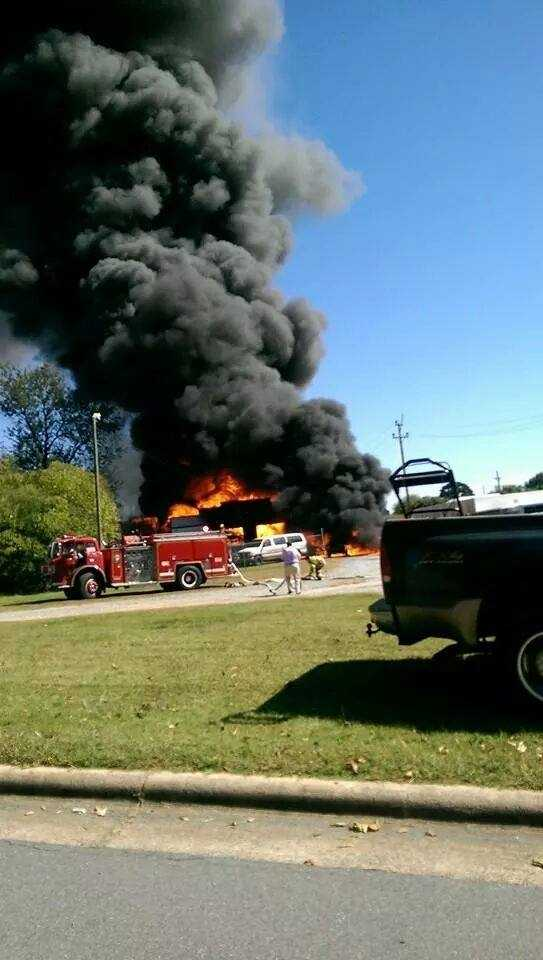 Guilford County fire crews have sent a tanker to help Rockingham County fire crews battle the blaze.