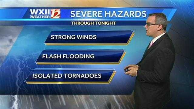 Brian Slocum says isolated tornadoes can't be ruled out with the system Tuesday night and Wednesday morning.