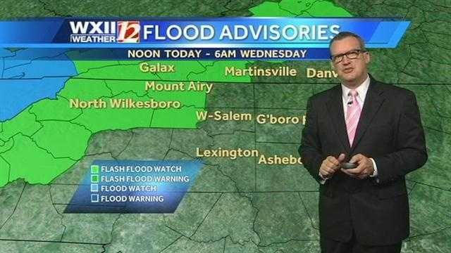 Flood advisories for Tuesday and Wednesday