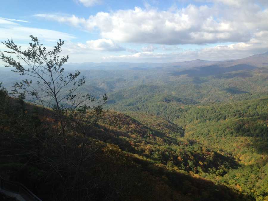 Oct. 19: The Blowing Rock! It was windy there this weekend, but the views were spectacular. (Photo by WXII)