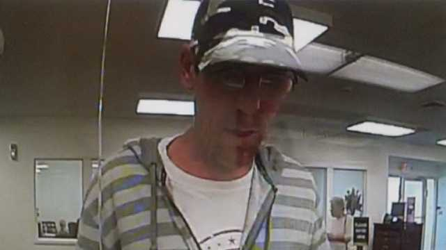 Surveillance image of High Point bank robbery suspect