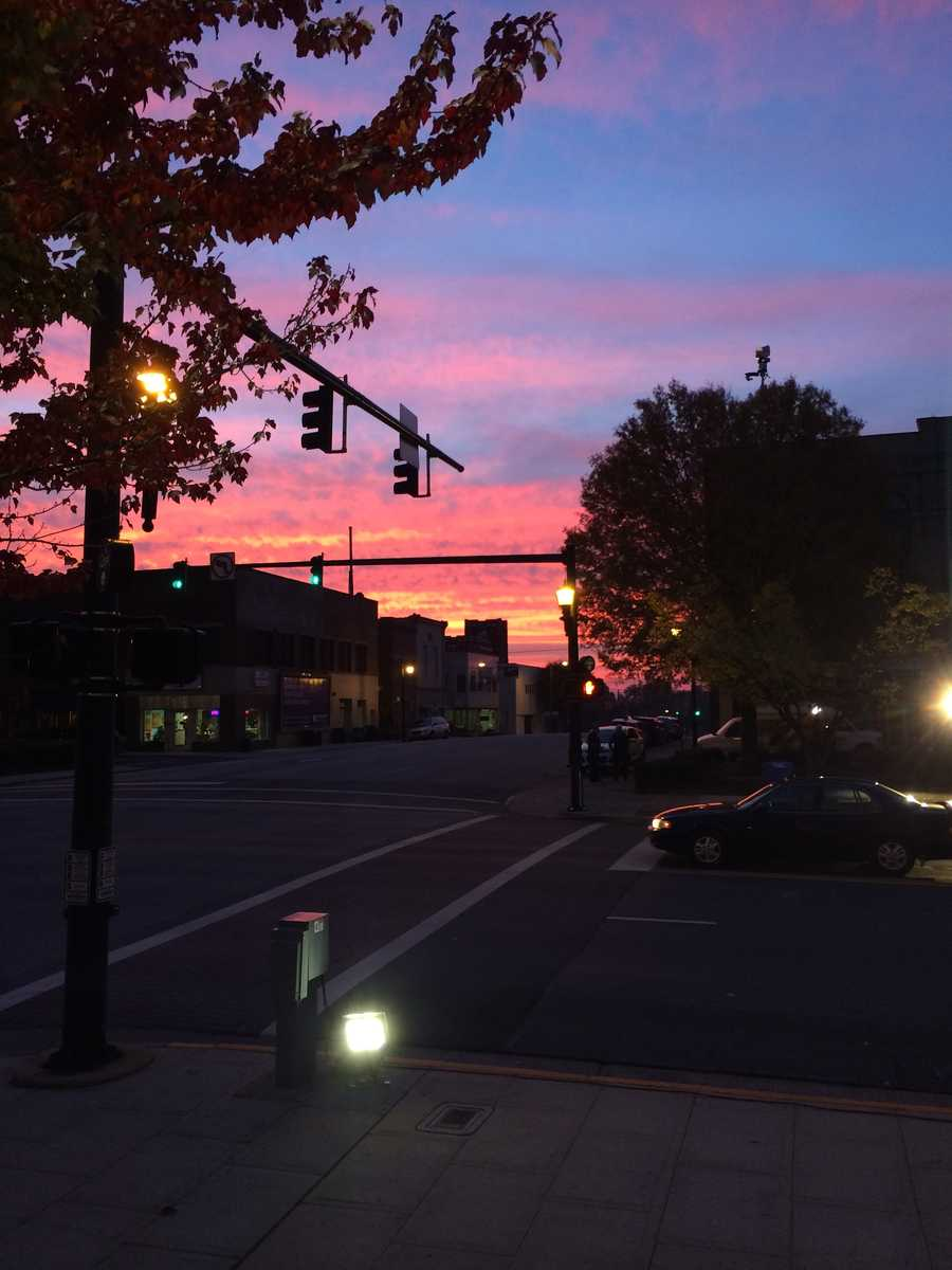 Nice sunrise this morning in uptown Lexington!