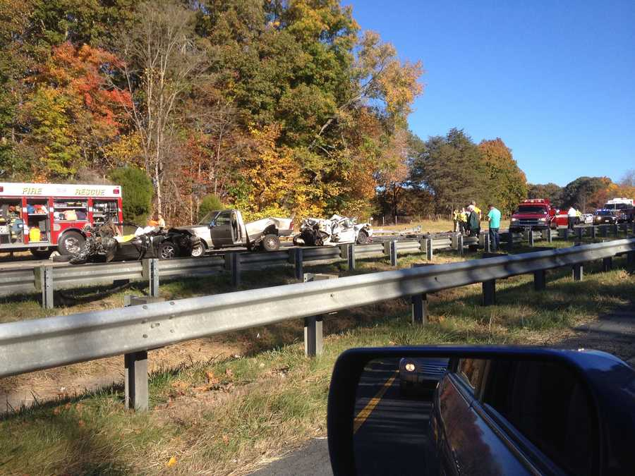 Viewer photo of US 52 crash