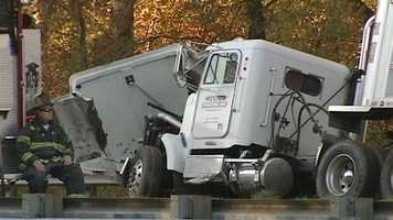 A tractor-trailer and five passenger vehicles, all heading northbound, were involved in the crash. Both deceased victims were passengers in separate cars.