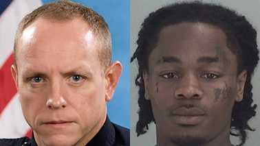 Cpl. D.W. Walsh, left, and Montez Hambric, right
