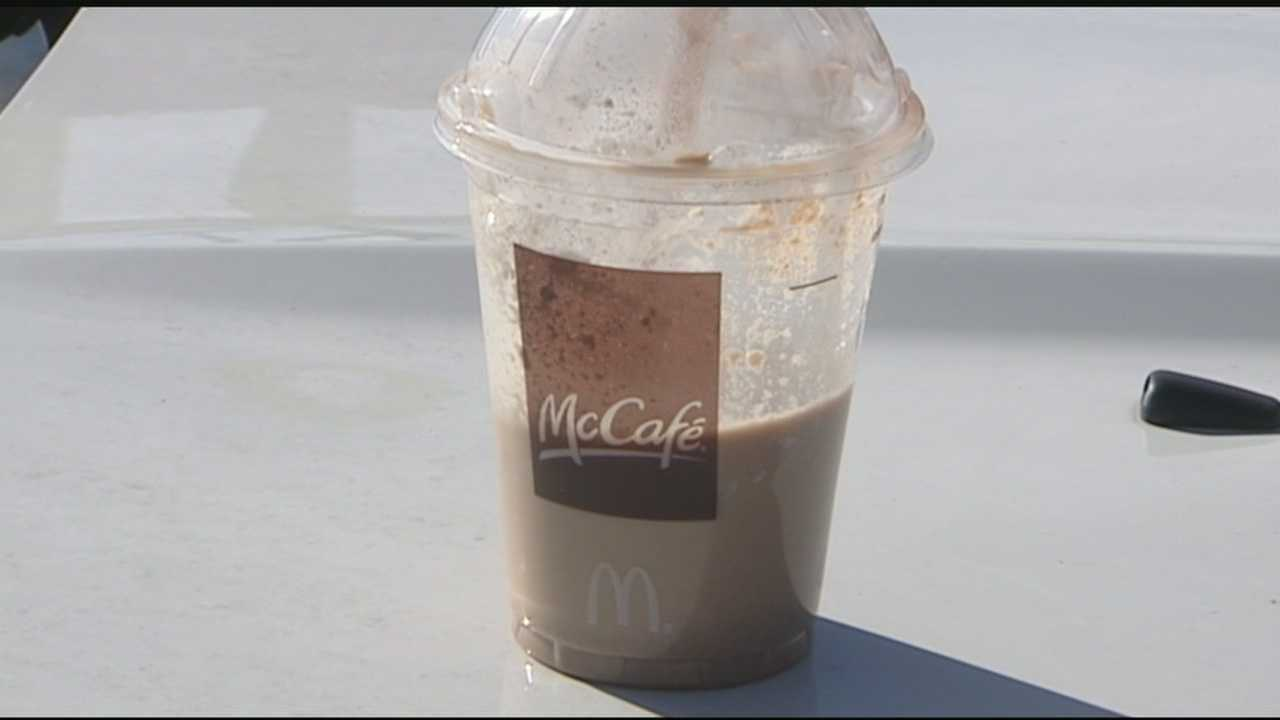 One boy got quite the surprise when he went to take a drink from his McDonald's Frappe. WXII's David Jeannot has the story.