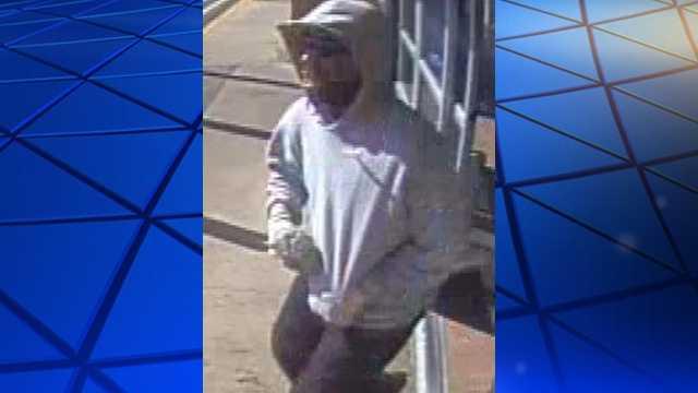 Surveillance image of Walmart robbery suspect
