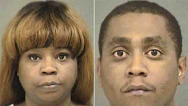 Ronika Bell, left, and Deron Cuthbertson Jr., right