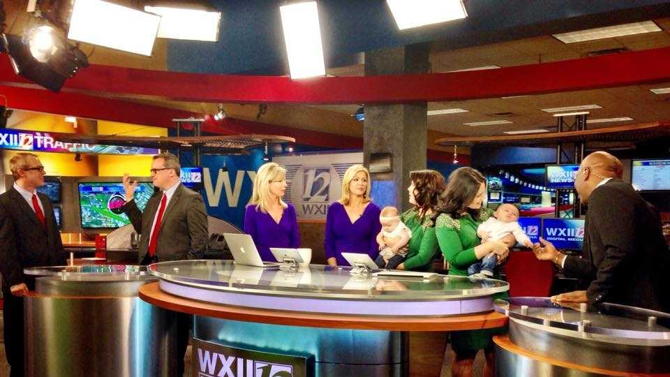 Fun on the WXII morning set