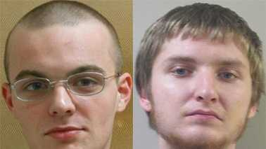 Frankie Noles, left, and Jacob Pilkington, right