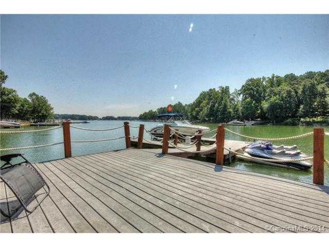 Private Pier with with a boat slip and floating dock