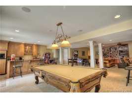 Rec Room with Billiard Area