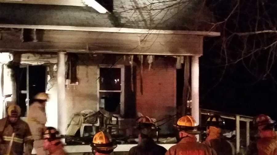 The fire started before 5:30 p.m. at an apartment in the 800 block of Banner Street in Mount Airy.
