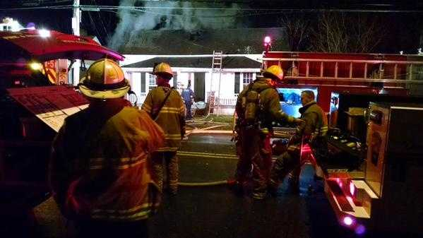 No one was injured when a fire started a home on Waughtown Street in Winston-Salem Tuesday morning.