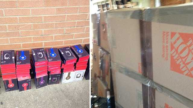 Various counterfeit goods were seized during an investigation at Wholesale Alley in Lexington.